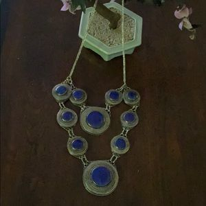 Antique lapis long necklace